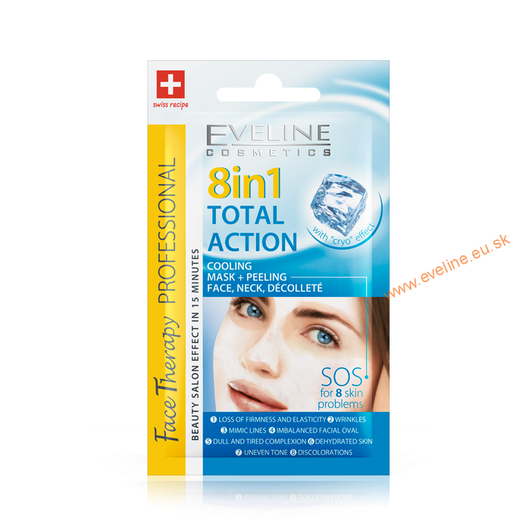 EVELINE Face Therapy 8v1 Total action maska+peeling